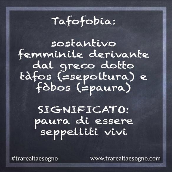 tafofobia paroladelgiorno